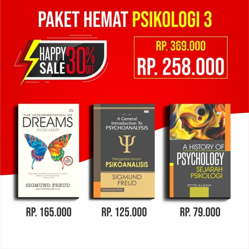 Foto Produk Promo Paket Buku Psikologi The Interpretation of Dreams Tafsir Mimpi dari Penerbit Indoliterasi