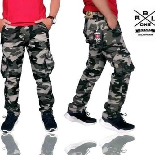 Foto Produk celana cargo panjang pria loreng premium dari playjeans