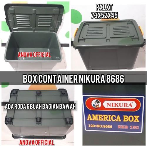 Foto Produk BOX CONTAINER NIKURA CANADA. 8686. JUMBO HIJAU. SETARA SHINPO CB 130 dari anova official