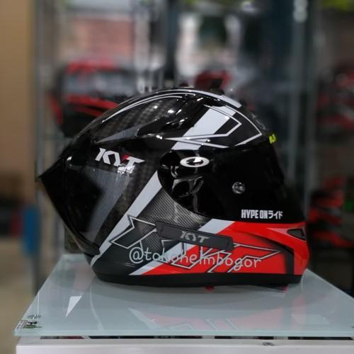 Foto Produk KYT K2Rider spotlight red visor flat darksmoke spoiler 3D darksmoke dari TOKO HELM BOGOR