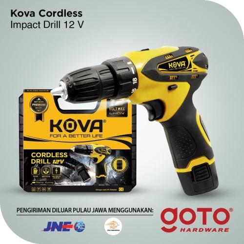 Foto Produk KOVA Mesin Bor Baterai Tangan Cordless Drill 12V dari GOTO Hardware