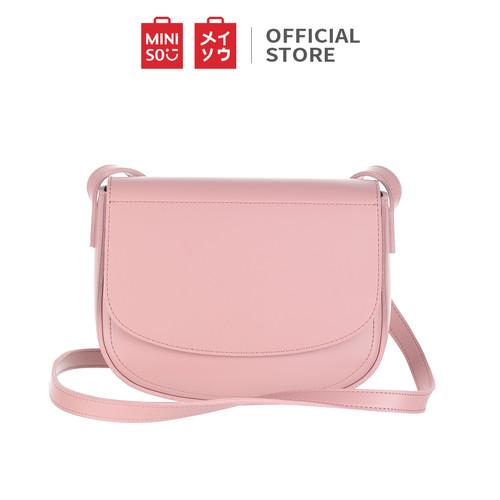Foto Produk Miniso Official Tas selempang Simple Solid Color Crossbody Bag - Merah Muda dari Miniso Indonesia