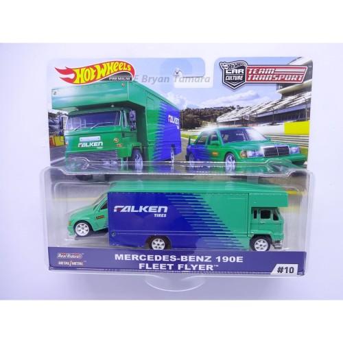 Foto Produk Hot wheels team transport mercedes-benz 190E fleet flyer Seri D dari Bryan Toys Shop
