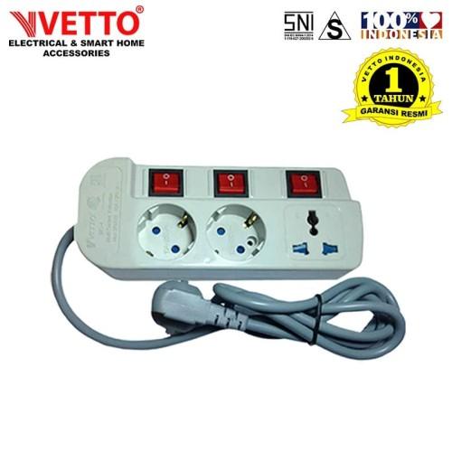 Foto Produk Stop kontak Vetto MS-3 - MS3/1.5M Multi Socket Outlets dari Vetto Indonesia