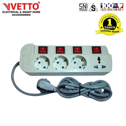 Foto Produk Stop kontak Vetto MS-4 - MS4/1.5M Multi Socket Outlets dari Vetto Indonesia