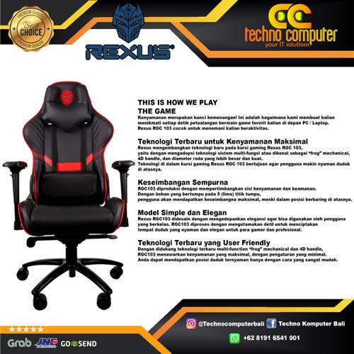Foto Produk Kursi Gaming REXUS RGC-103 - Merah dari Techno Computer Bali