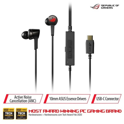 Foto Produk ASUS ROG Cetra In-Ear Gaming Headphones with Active Noise Cancellation dari Asus Component