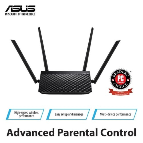 Foto Produk ASUS RT-AC1200 V2 WiFi Dual Band Wireless Router with Parental Control dari Asus Component