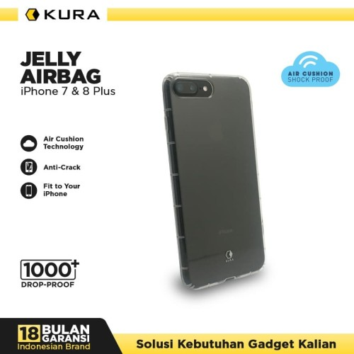 Foto Produk KURA Case Jelly Airbag - iPhone 7 Plus 8 Plus - Putih dari KURA Elektronik