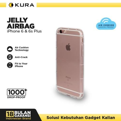 Foto Produk KURA Case Jelly Airbag - iPhone 6 Plus 6s Plus - Putih dari KURA Elektronik