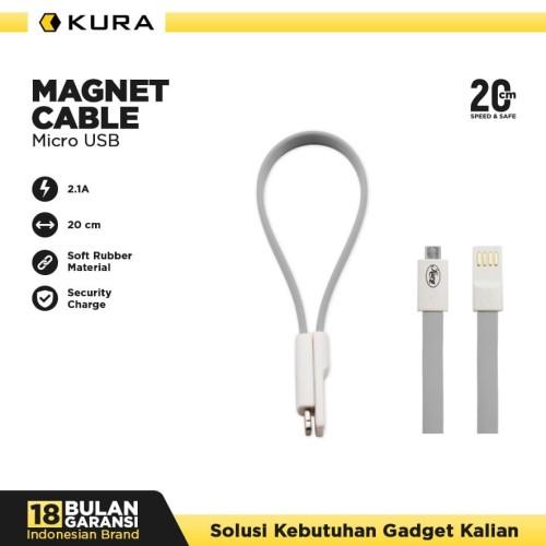 Foto Produk KURA Magnet Cable - Kabel Data Micro USB - Ungu dari KURA Elektronik