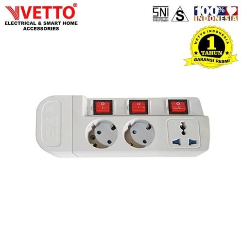 Foto Produk VETTO Stop Kontak MS-3 (3L) - MS-3/TK Multi Socket Outlets dari Vetto Indonesia