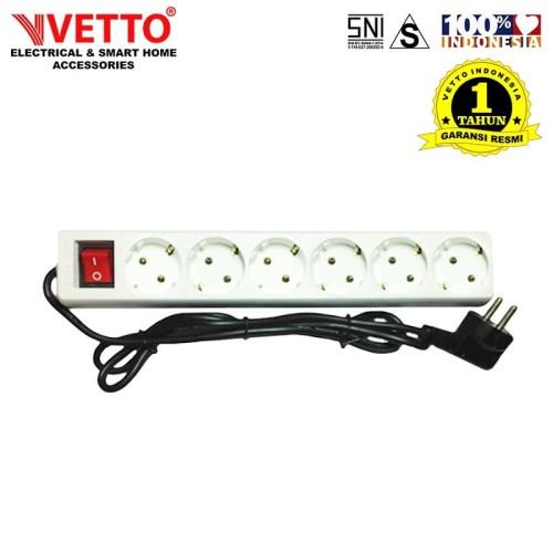 Foto Produk VETTO Stop kontak 6 Lubang 3 meter Full SNI - V8206/3M dari Vetto Indonesia
