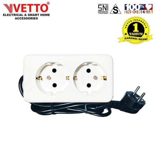 Foto Produk Stop Kontak Vetto V8202 1.5M SNI-V8202/1.5M LC dari Vetto Indonesia
