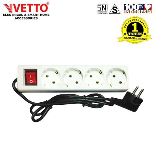 Foto Produk VETTO Stop kontak 4 Lubang 3 meter Full SNI - V8204/3M dari Vetto Indonesia