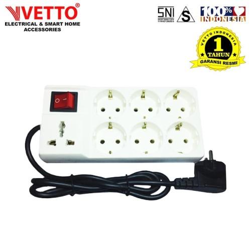 Foto Produk VETTO Stop Kontak V8206 R7 1.5M Universal SNI dari Vetto Indonesia