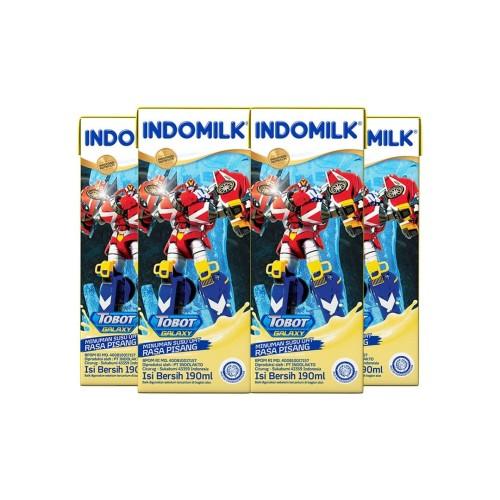 Foto Produk Indomilk UHT Banana 190 ml X 4 Pcs dari Indomilk Official Store