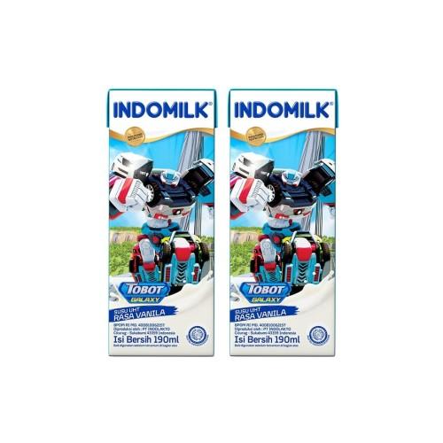 Foto Produk SUSU UHT INDOMILK VANILA 190 ML X 2 Pcs dari Indomilk Official Store