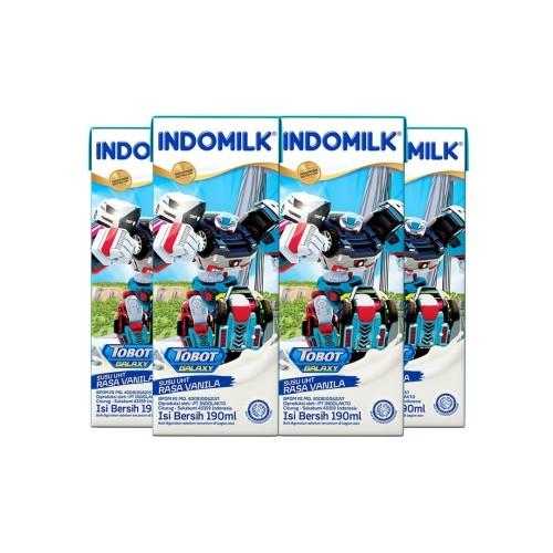 Foto Produk SUSU UHT INDOMILK VANILA 190 ML X 4 Pcs dari Indomilk Official Store