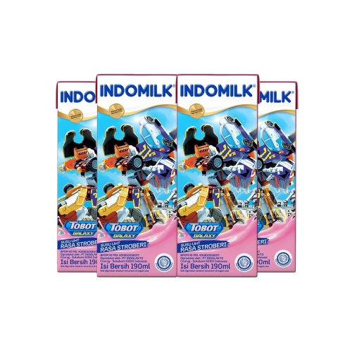 Foto Produk SUSU UHT INDOMILK KIDS STRAW 190 ML X 4 Pcs dari Indomilk Official Store
