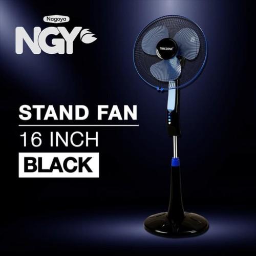 Foto Produk Kipas Angin Berdiri / Stand Fan TIMEZONE Black 16in TZ-16KB dari Nagoya Electronics