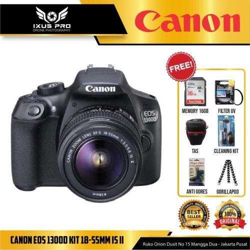 Foto Produk CANON EOS 1300D KIT 18-55MM IS II - KAMERA SLR CANON 1300D KIT IS II dari ixuspro