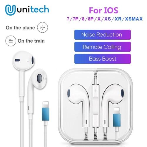 Foto Produk Headset Kabel Lightning Connector For iPhone Earphone Kabel Lightning dari Unitech Official