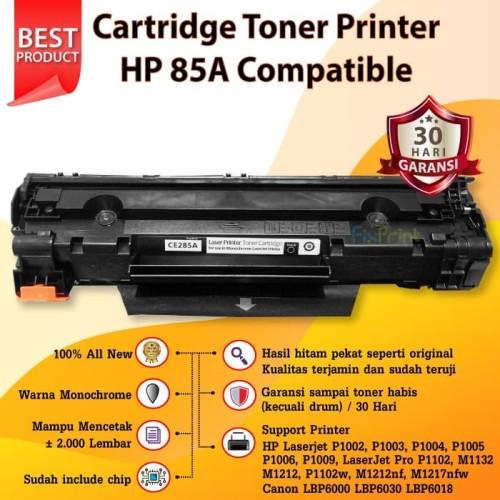 Foto Produk Toner Cartridge Compatible 85a CE285a HP 1102 P1102 HP-1102 dari FixPrint Store