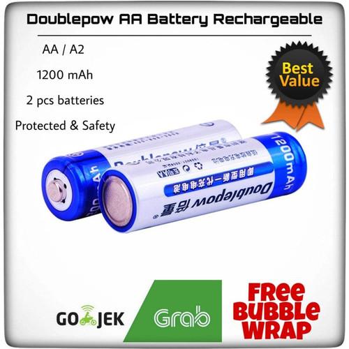 Foto Produk Baterai Cas AA Doublepow 1200 mAh isi 2 - AA 1200 dari ZigZag-Store