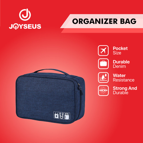 Foto Produk JOYSEUS Tragbare Digital Storage Bag Wasserdichte Organizer - KP0005 - Biru dari Joyseus Official Store
