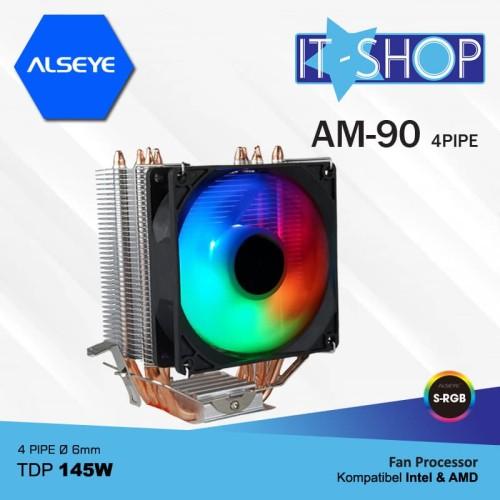 Foto Produk Alseye Fan Processor 4 Pipa AM90 RGB dari IT-SHOP-ONLINE