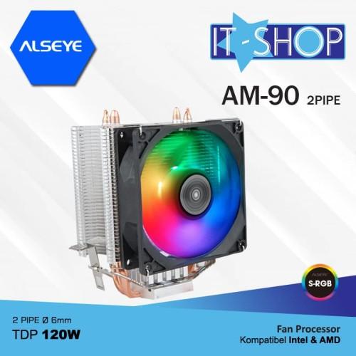 Foto Produk Alseye Fan Processor 2 Pipa AM90 RGB dari IT-SHOP-ONLINE