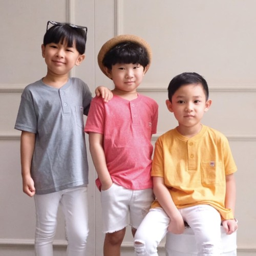 Foto Produk Bundling Package 3Pcs - Kids Pocket Tee by Little Jergio - RandomColor - XL 6-7Y dari Little Jergio