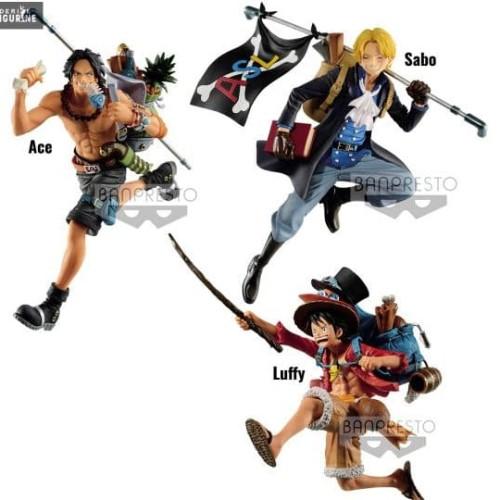 Foto Produk Luffy Ace Sabo Scultures Action Figure One Piece Anime Movie dari CABE CABEAN5