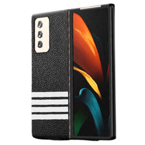 Foto Produk Case Samsung Galaxy Fold 2 Fold2 Leather Strip (FrontBack Casing) - Horizontal dari Spigen Indonesia