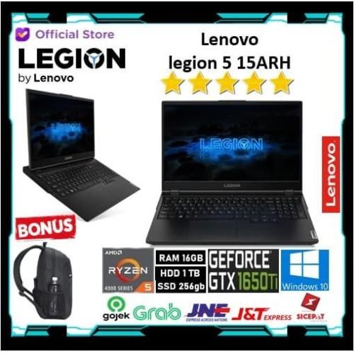 Foto Produk Lenovo Legion 5 15ARH - Ryzen 5 4600 16GB 1TB+256ssd GTX1650Ti 4GB dari Gateway Indonesia Comp