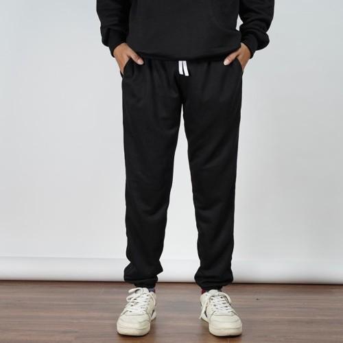 Foto Produk Daily Outfits Celana Jogger Sweatpants Hitam Unisex Premium Quality - L dari Daily Outfits DYO