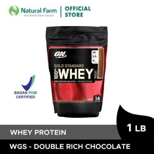Foto Produk Optimum Whey Gold Double Chocolate 1 Lb Pouch dari Natural Farm