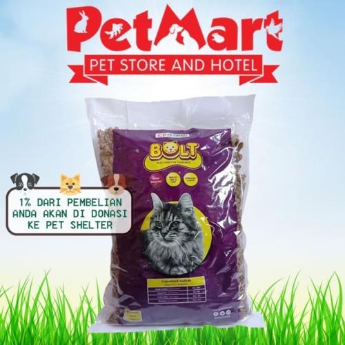 Foto Produk FLASH SALE - Makanan Kucing Bolt Repack 1KG - IKAN dari Pet Mart