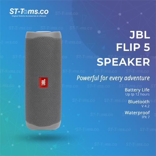 Foto Produk JBL Flip 5 Bluetooth Speaker - Gray dari ST-Toms.co
