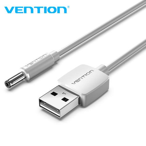 Foto Produk Vention Kabel Power USB to 3.5mm Jack 5V DC - CEX White, 1m dari VENTION by SinsheTekno