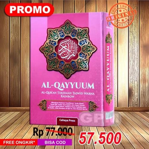 Foto Produk Al-Quran Pelangi Al-Qayyum Ukuran Buku Tulis dari Grosir Produk Muslim
