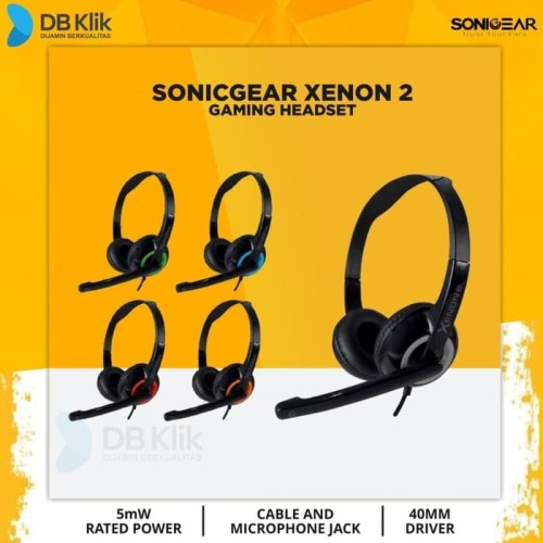 Foto Produk Headset SONICGEAR XENON 2 - Merah dari DBklik Semarang