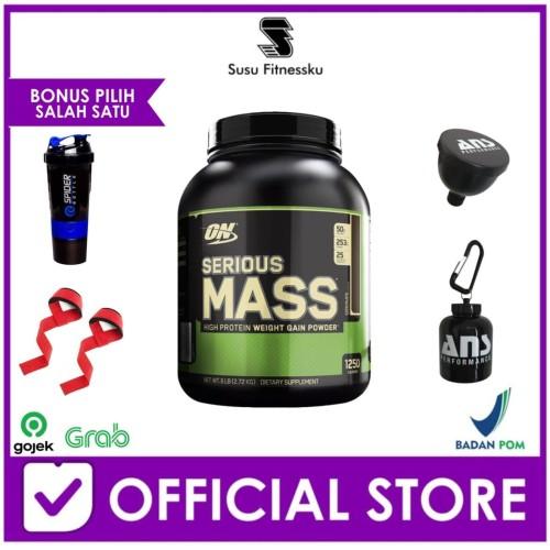 Foto Produk Optimum Nutrition Serious Mass 6 Lbs Bonus Shaker dari Susu fitnessku