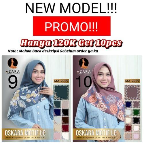 Foto Produk GET 10PCS!! OSKARA LASER CUT by azara scarf hijab Segi empat motif dari REGAR collectionn
