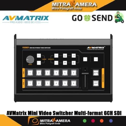 Foto Produk AVMatrix Mini Video Switcher Multi-format 6CH SDI HDMI dari mitrakamera