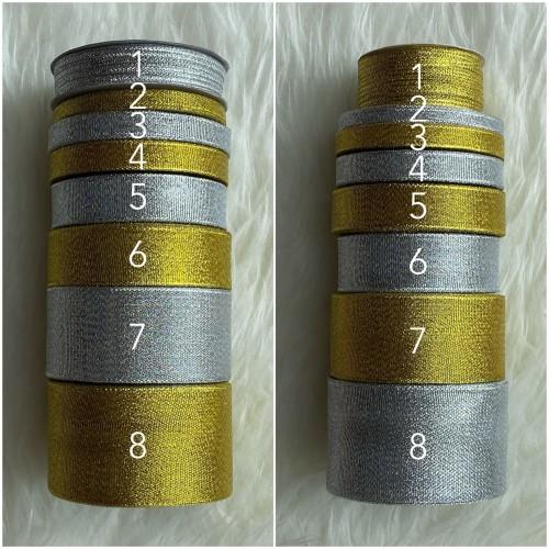 Foto Produk Pita Glitter Gold Dan Silver Berbagai Ukuran - Gold Dua dari FleurDeCerisier
