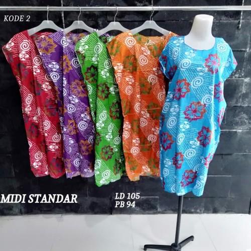 Foto Produk Grosir Daster Midi Rayon Murah Baju Tidur Kode 2 dari Rumah Batik Pekalongan 2