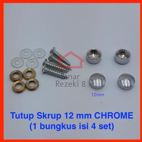 Foto Produk Tutup Skrup Kaca 12 mm Finishing CHROME Dop Screw Sekrup Cover dari Sinar Rezeki 8