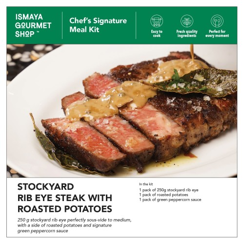 Foto Produk ISMAYA Meal Kit: Stockyard Rib Eye Steak With Roasted Potatoes dari Ismaya Gourmet Shop